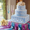Amaretto Cream Wedding Cake - Demers Catering in Houston, Tx