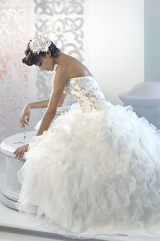 Beautiful White Bridal Dress For Wedding At Demers