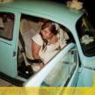 Beautiful Houston Bride In Car - Weddings at Demers