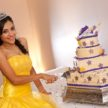 Cutting the Cake - Quinceañera Celebration at Demers