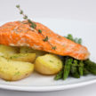 Baked Salmon with Herbed Sauce
