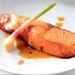 Baked Salmon with Honey Ginger Glaze