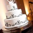 Black & White Fleur De Lis Wedding cake from Cake My Day