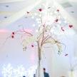 Bright Wedding Centerpiece at Demers in Houston