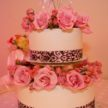 Demers Wedding Cake with Decorative Ribbons and Crystals