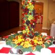 Fruit Sculpture and Fruit Table for Wedding Reception