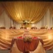 Gold and Brown Event Backdrop