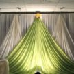 Green and White Event Backdrop