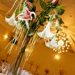 Hanging Lily Wedding Centerpiece at Demers