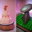 His and Her's Wedding Cake in Houston