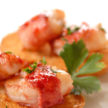 Cranberry apple glazed shrimp wrapped in bacon