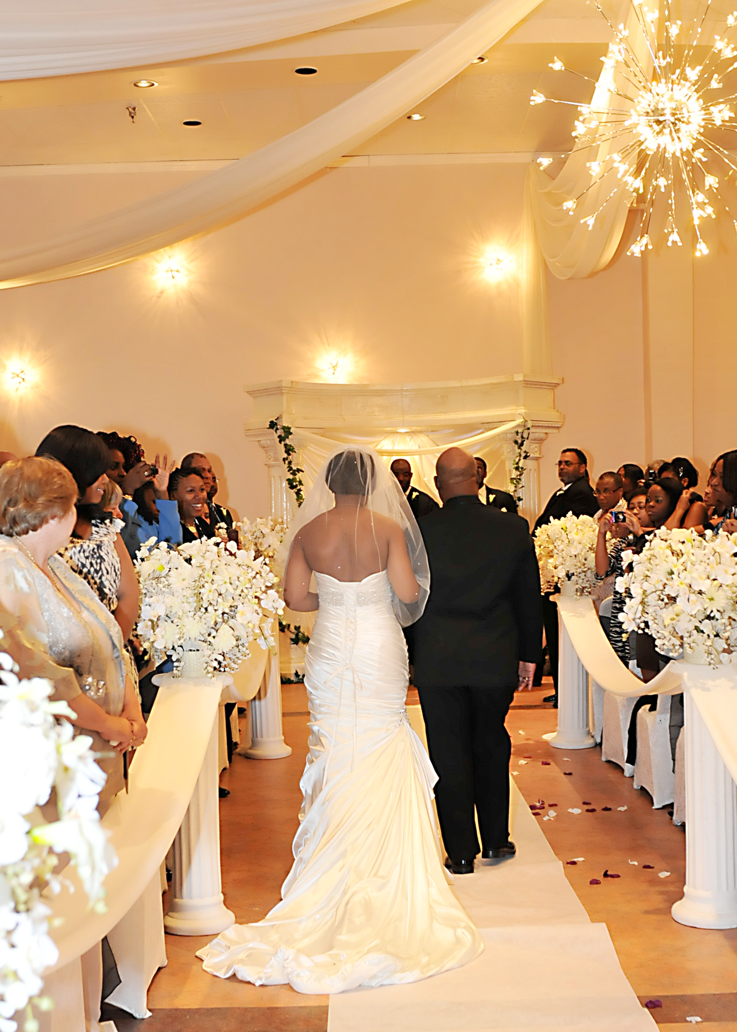 Indoor Wedding Ceremony In Southwest Houston