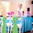 Island Tablescape with Vibrant Colors - Wedding Table Setup
