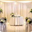 Lighting Single Table Event Backdrop