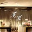 Monogram and Evening Wedding Backdrop