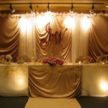 Multiple Lights in Wedding Backdrop