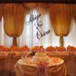 Orange Wedding Backdrop