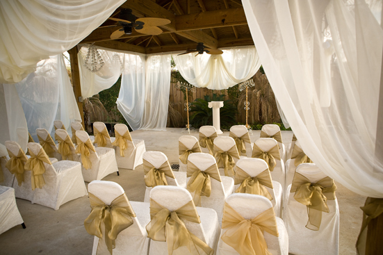 Brown Chairs Outdoor Ceremony Decorations: Outdoor Wedding Ceremony Seating At Demers