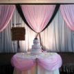 Pink, White & Green Wedding Backdrop