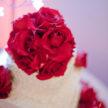 Pretty Pink Flower on Wedding Cake