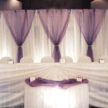 Purple and White Event Backdrop & Party Table