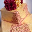 Red and Gold wedding cake - Cake My Day