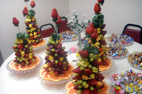 Small Fruit Tree Arrangements for Events - Demers Banquet Hall