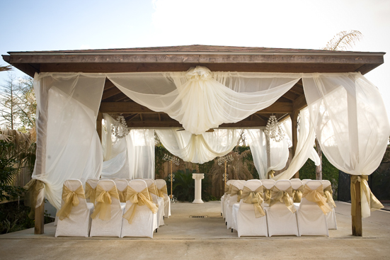 Summer Outdoor Wedding Ceremony in Houston TX & Summer Outdoor Wedding Ceremony in Houston TX - Demers Banquet Hall
