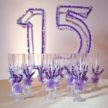 Toasting Flutes for Sweet 16 Toast