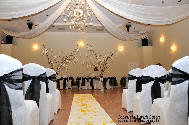 White Black Decor For Wedding Ceremony At Demers