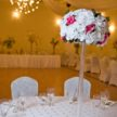 White Floral Centerpiece with Pink Flowers