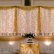 Yellow and White Wedding Backdrop & Two Lights