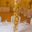 Yellow Floral Vase Wedding Centerpiece