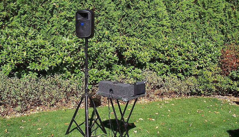 music sound system for outdoor weddings at demers
