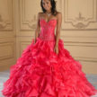 Punch and Silver Quinceanera Dress