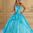 Turquoise and Silver Quinceanera Dress