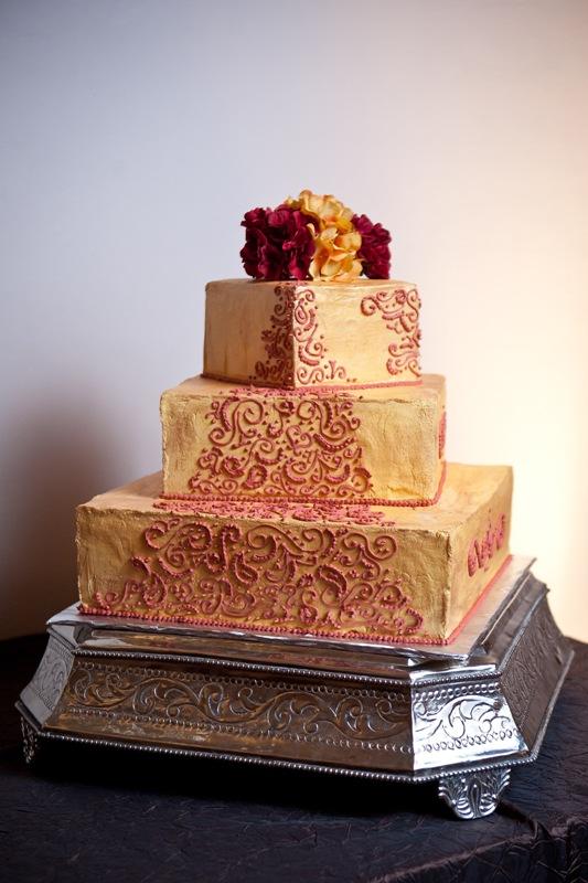 Indian Inspired Wedding Cake In Houston TX