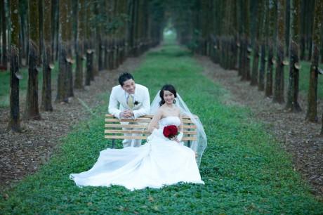 outdoors wedding photo Houston, TX