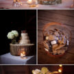 Rustic Wedding Cake Setting