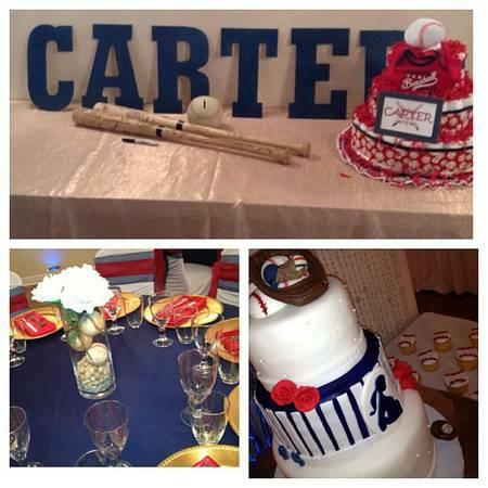 Baseball Themed Baby Shower In Orchid Room At Demers Banquet Hall