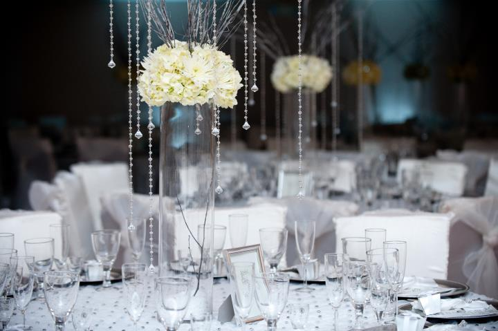 DIY Centerpieces At Houston Wedding Reception Demers Banquet Hall