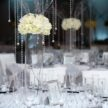 White Event Table Centerpiece