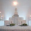 White Wedding Head Table Setup - Houston Texas