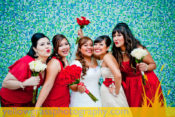 smiling bridesmaids