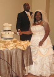 yellow and purple wedding cake houston